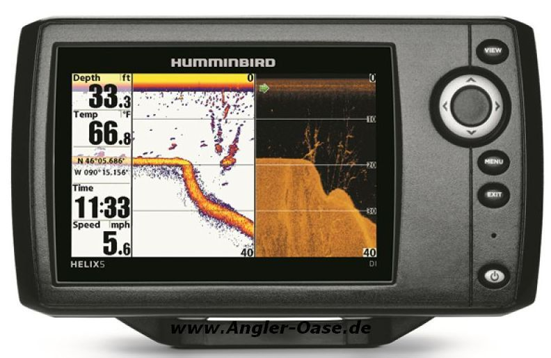 Humminbird Echolot GPS Seekartenplotter Helix 5 Chirp GPS DI G2 Down Imaging